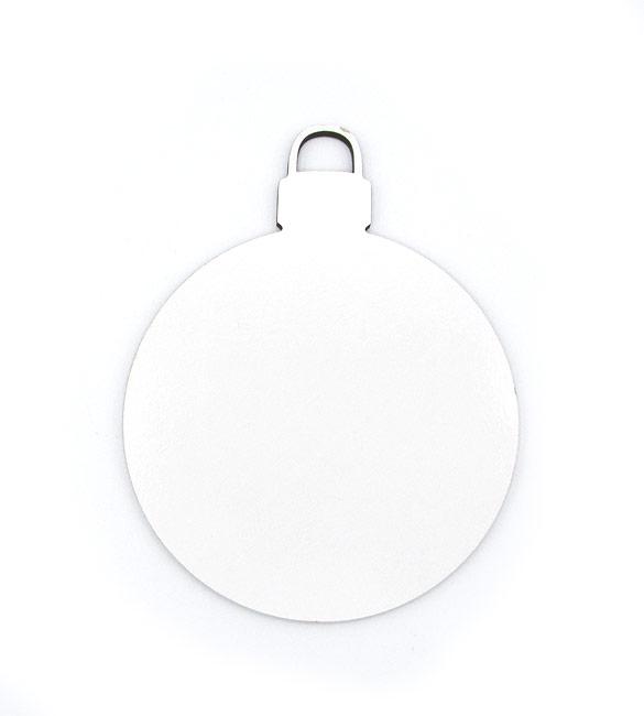 Bola de Natal Recortada Branca Ø8cm