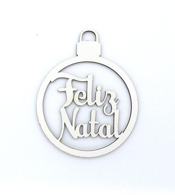 Bola de natal Feliz Natal 8cm