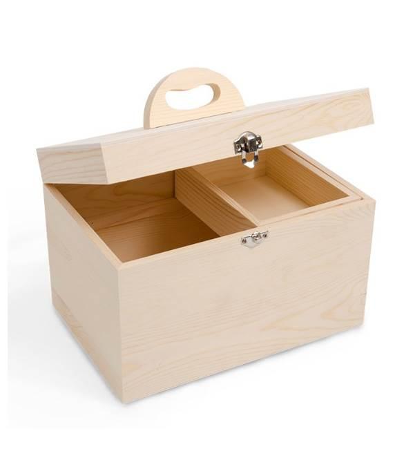 Caixa de madeira com divisões