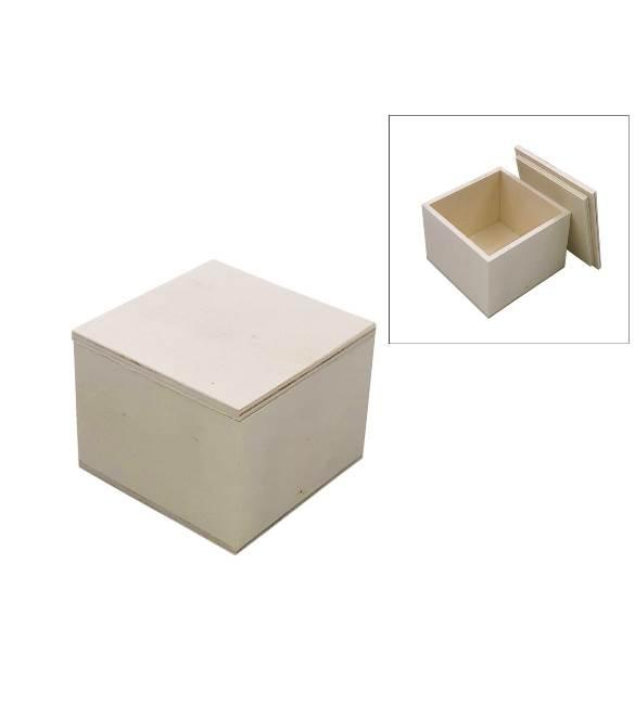 Caixa em choupo quadrada 7x7x5cm