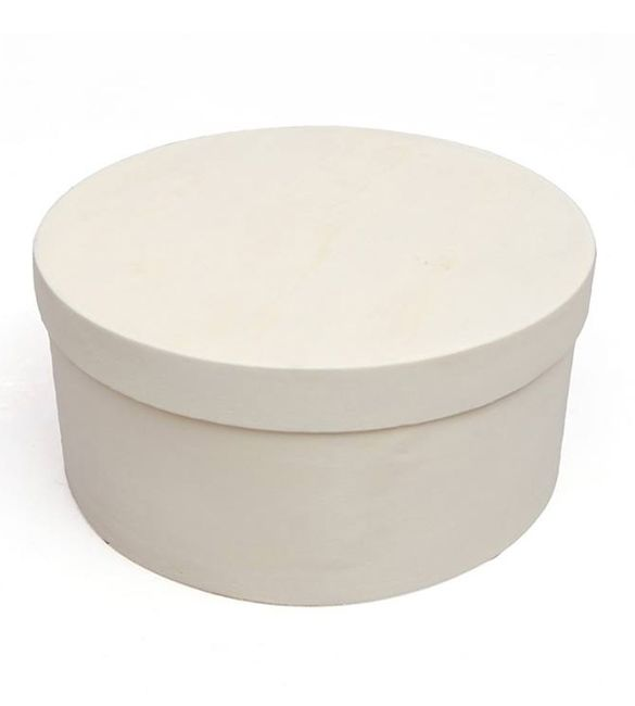 Caixa redonda em Balsa 13x6.2cm (87557)