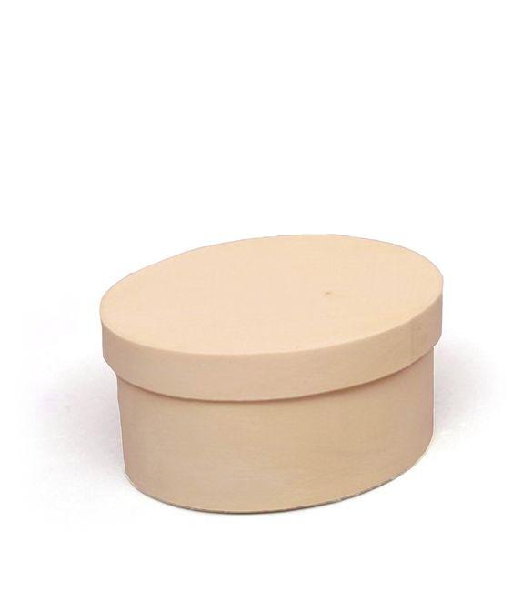 Caixa balsa oval 8x6x4cm
