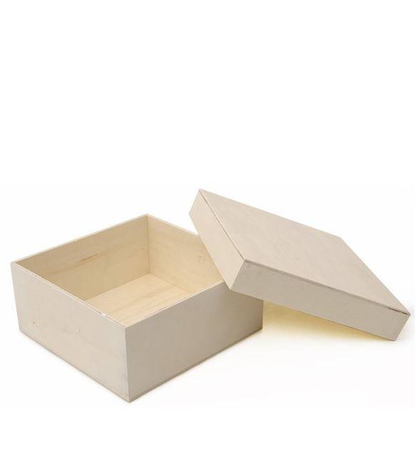 Caixa quadrada com tampa de encaixe