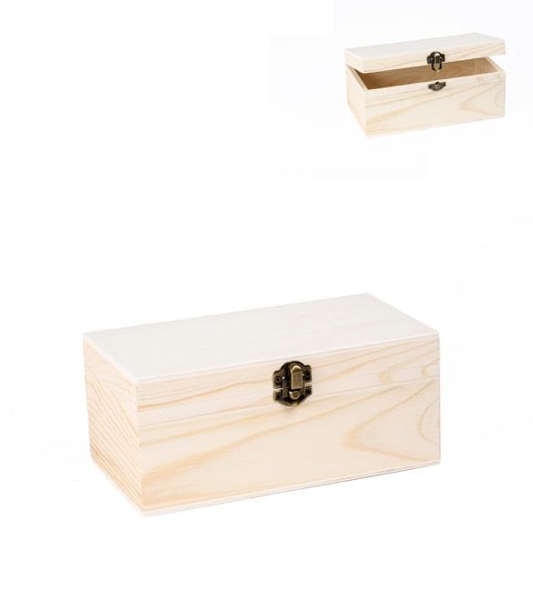 Caixa rectangular com fecho