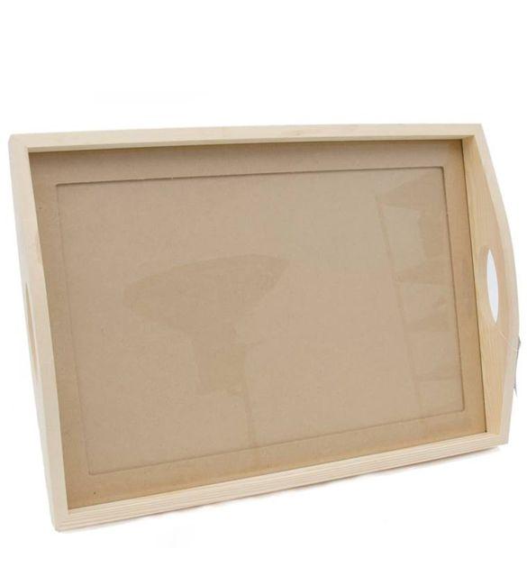 Tabuleiro rectangular com vidro