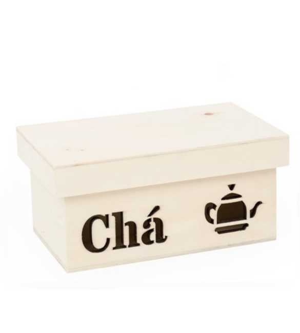 Caixa de Chá 4 divisões