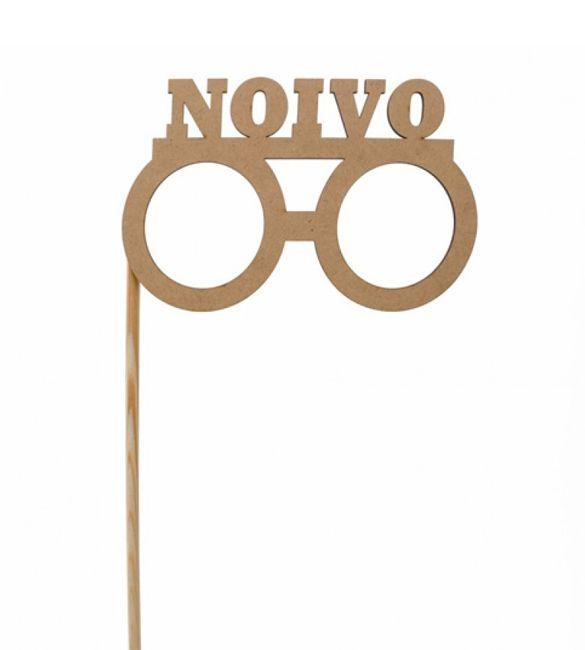 Óculos Noivo em mdf