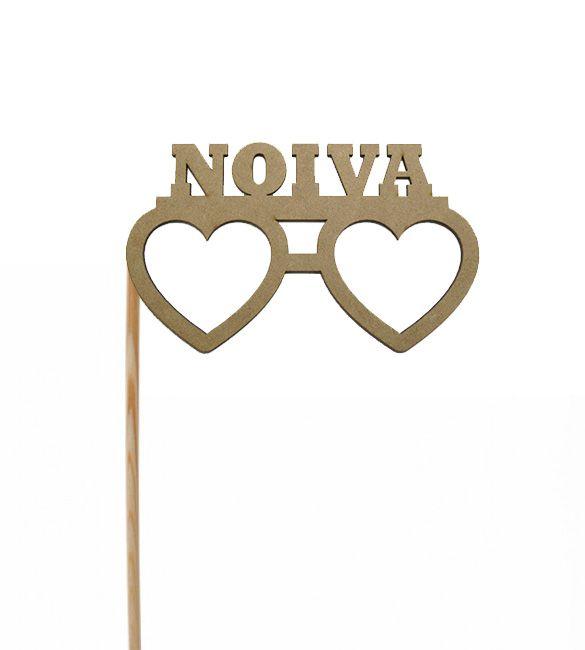 Óculos Noiva em mdf