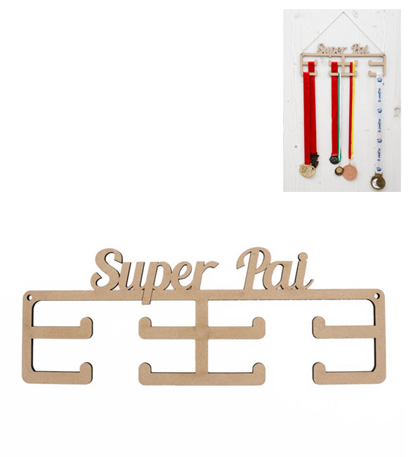 Porta Medalhas Super Pai