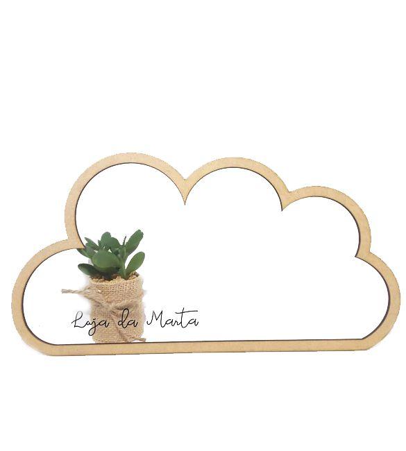 Silhueta de nuvem em mdf