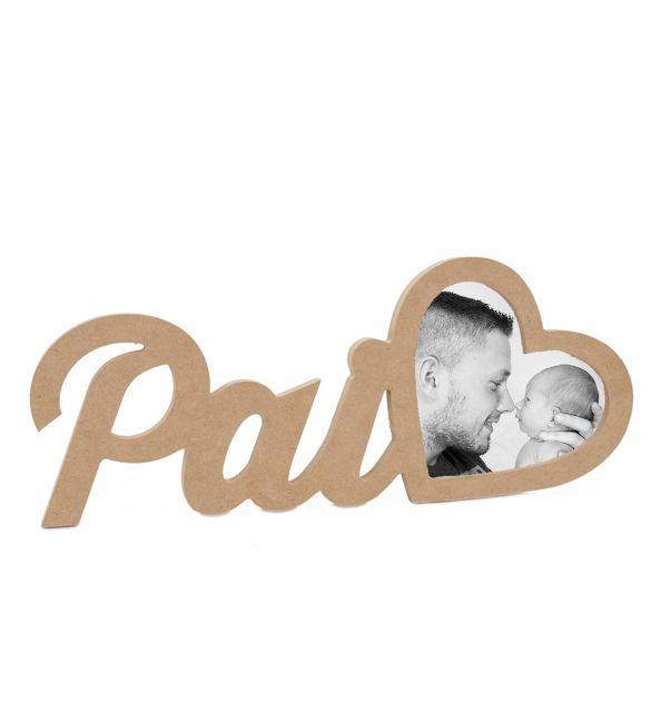Moldura Pai com coração