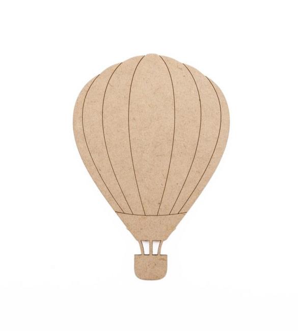 Balão de ar quente em mdf