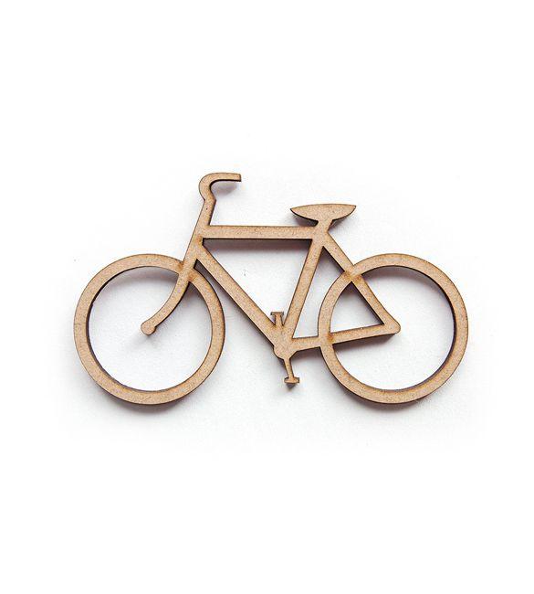 Bicicleta recortada em mdf