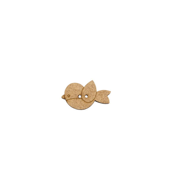 Botão Passarinho em Mdf 3cm