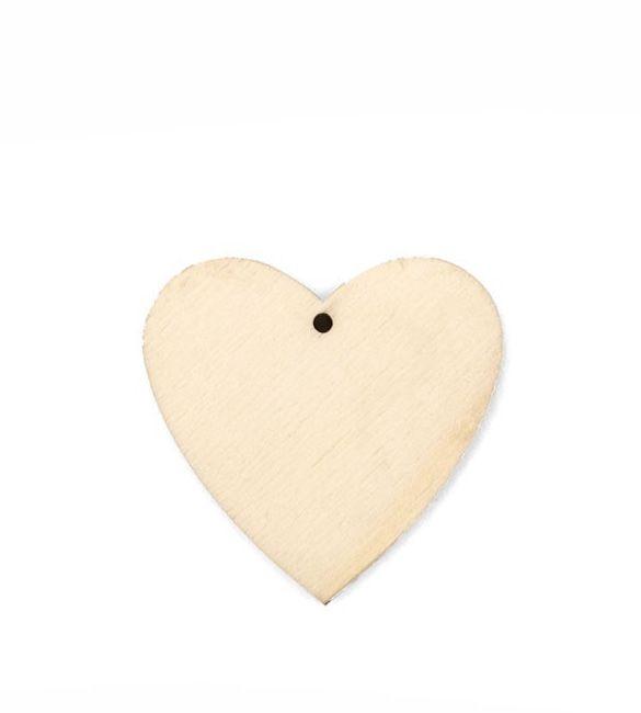 Coração em Choupo 8cm