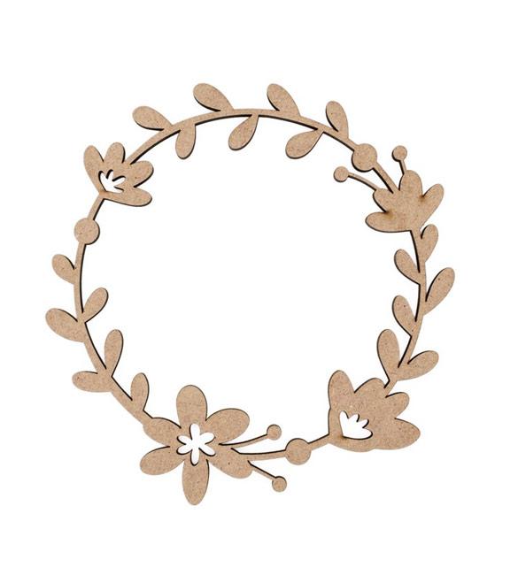 Coroa de flores em mdf