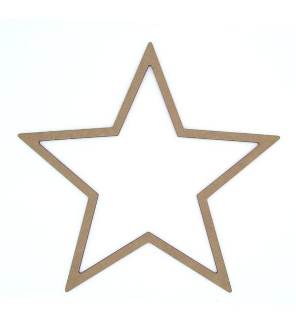 Estrela Recortada em MDF 20cm