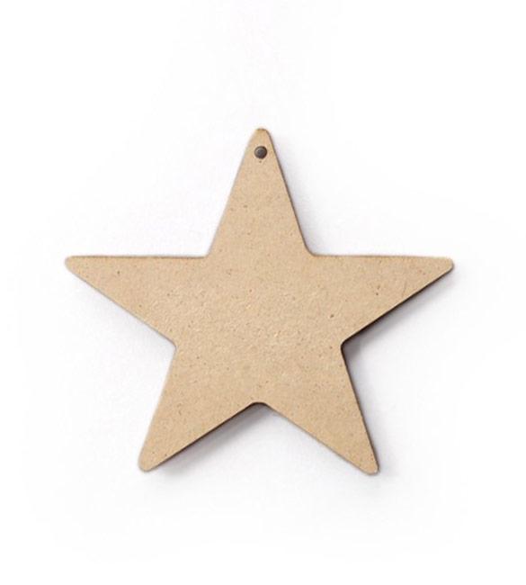 Aplicação estrela em MDF 4.5x4cm