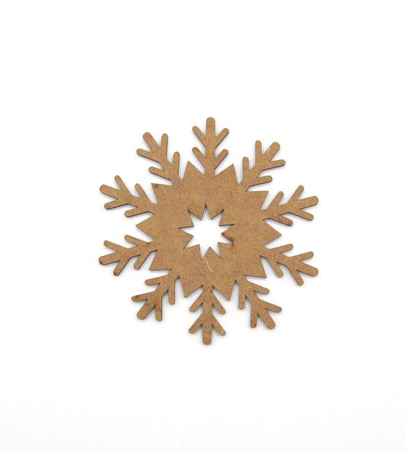 Floco de Neve em mdf   Ø10cm