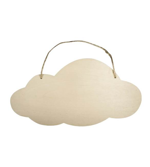 Nuvem em Choupo 40*20 cm