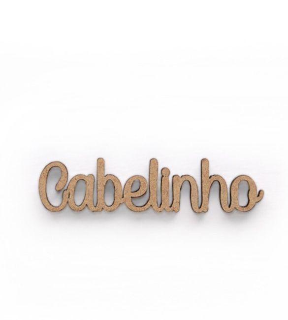 Recorte Cabelinho em mdf