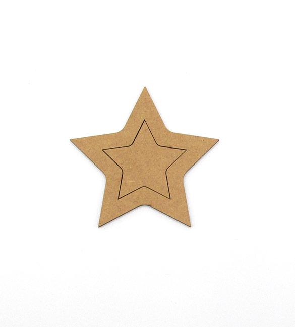 Par de Estrelas em mdf