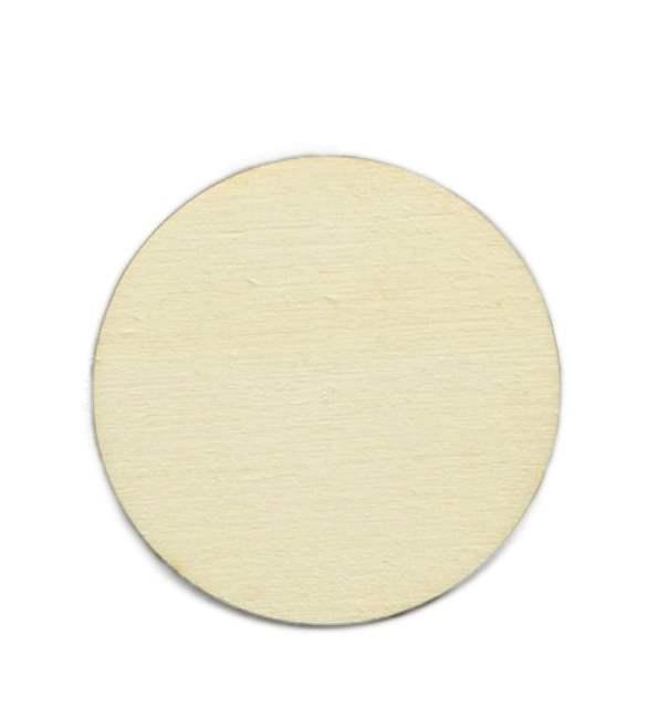 Placa redonda em choupo Ø10cm