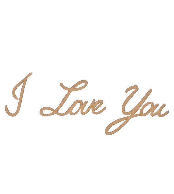 """Recorte """"I Love You"""""""