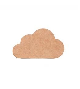 Aplicação nuvem em MDF 10x5.5cm