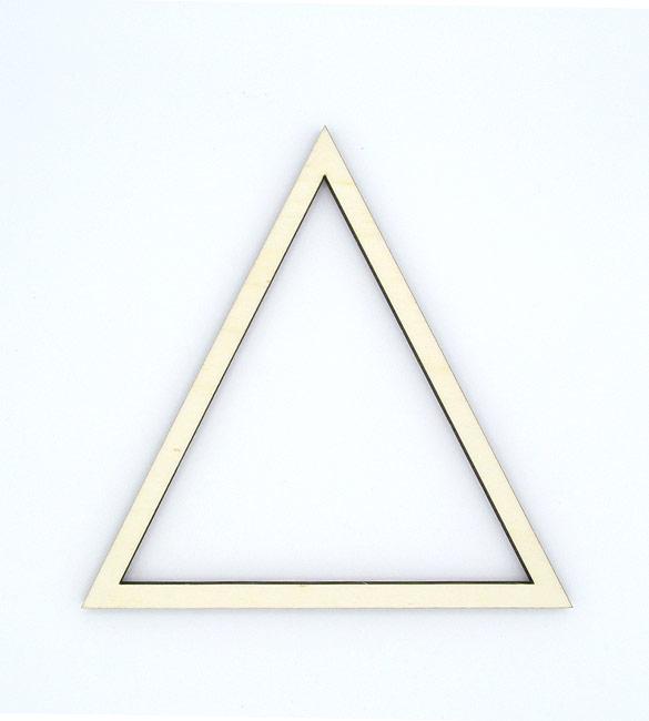 Triangulo Recortado em Choupo 20cm