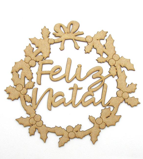 "Grinalda em MDF "" Feliz Natal"""