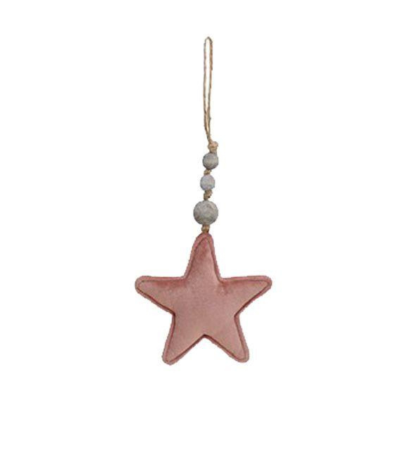 Estrela de pendurar em rosa