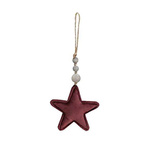 Estrela de pendurar em vermelha