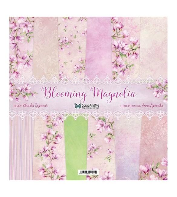 Papel Scrapbooking  Blooming Magnolia Pack de 5