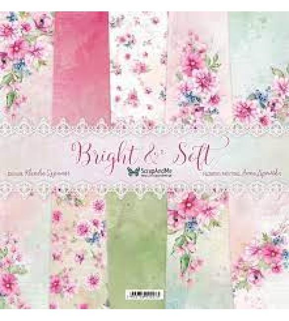 Folha Scrapbooking  Bright & Soft Pack de 5