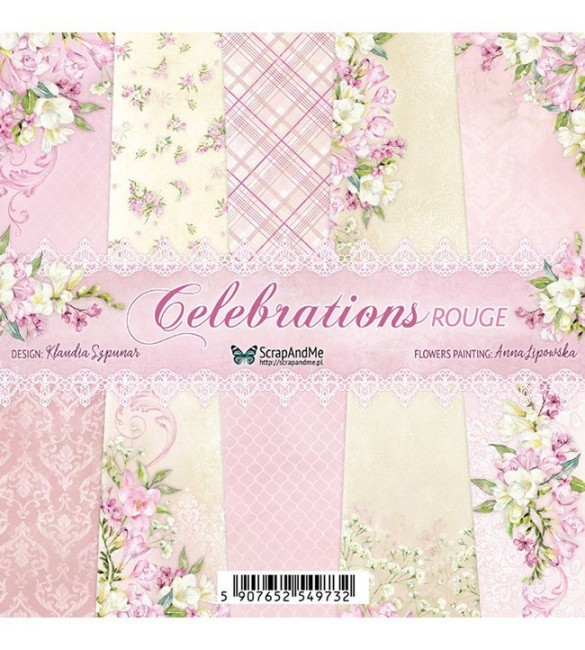 Papel Scrapbooking  Celebrations Rouge Pack de 5