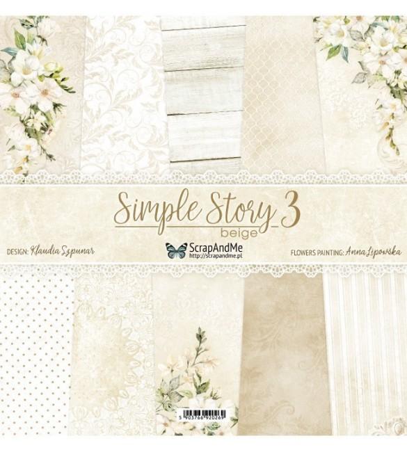 Folha Scrapbooking Simple Story 3 Pack de 5