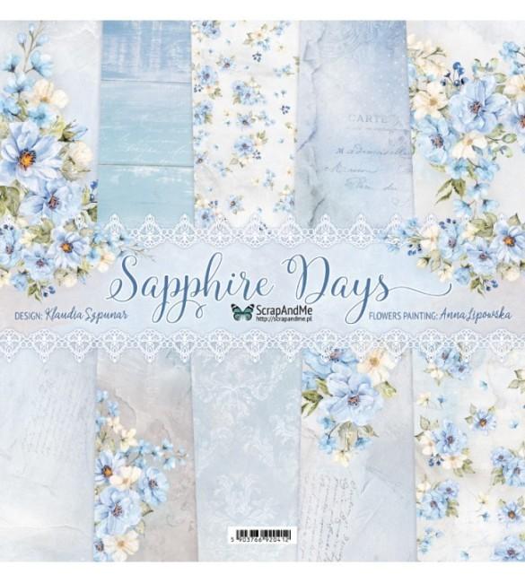Papel Scrapbooking Sapphire days Pack de 5