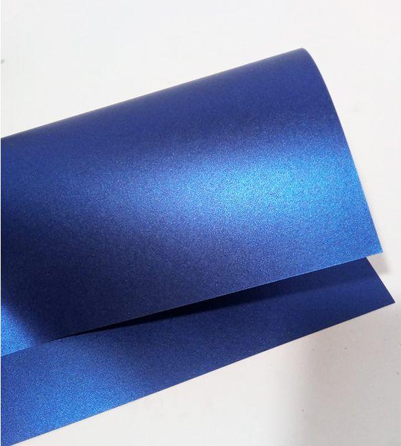 Papel Majestic Metalizado Azul Cobalto em folhas A4