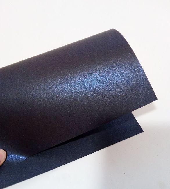 Papel Majestic Metalizado Azul Escuro em folhas A4