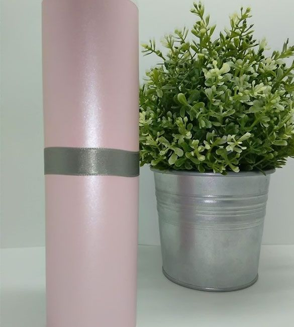 Papel Majestic Metalizado Rosa Bebé em folhas A4