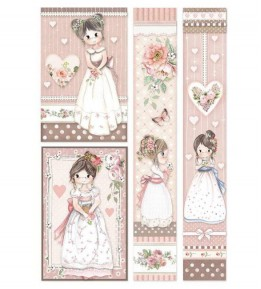 Papel de Arroz A4 - Little Girl Frames