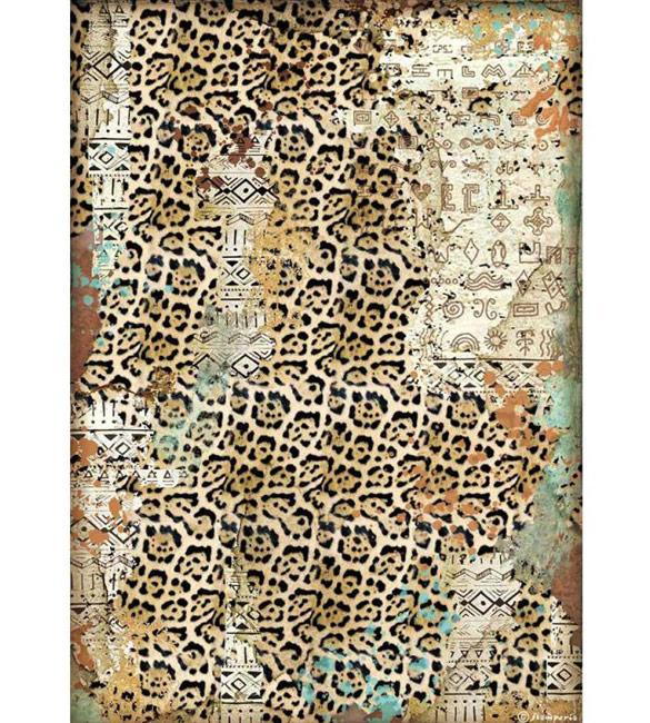 Papel de Arroz A4 - Texturas da Amazónia
