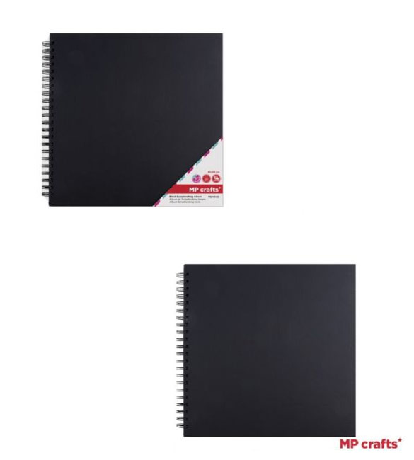 Álbum Scrapbook Preto 30x30cm