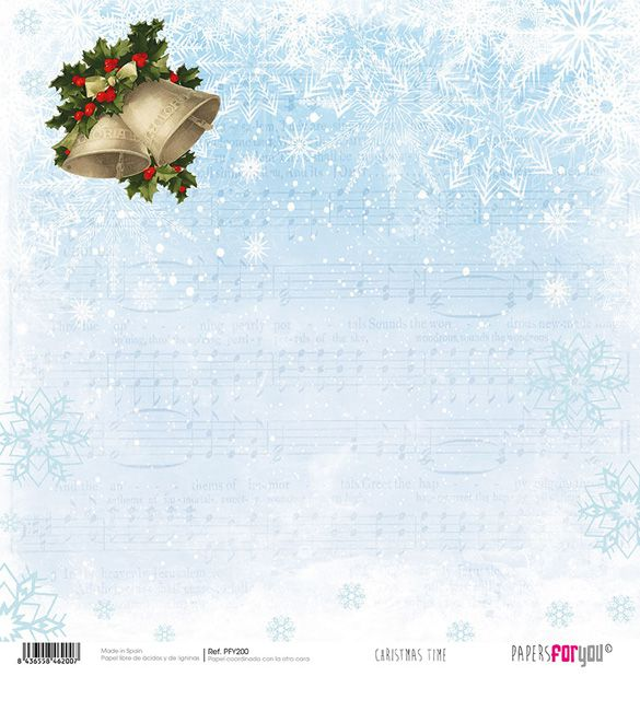 Papel Scrap Christmas Time 200