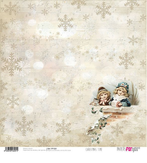 Papel Scrap Christmas Time 201
