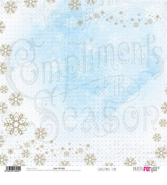 Papel Scrap Christmas Time 202