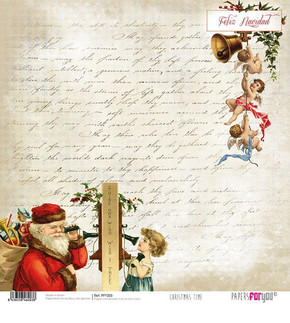 Papel Scrap Christmas Time 203