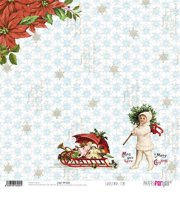 Papel Scrap Christmas Time 204