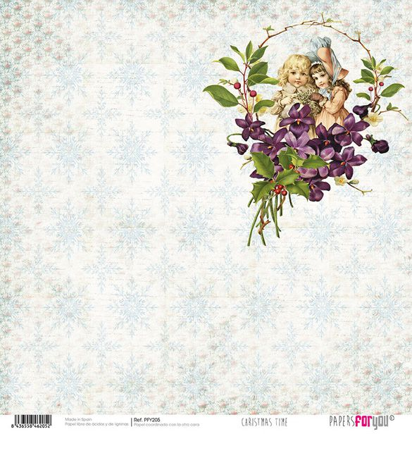 Papel Scrap Christmas Time 205
